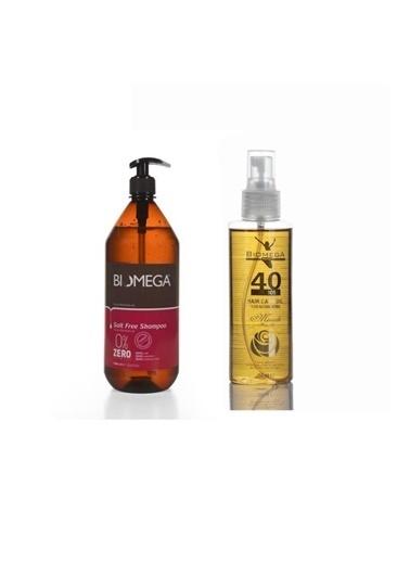 Biomega Biomega Tuzsuz Şampuan 1000 Ml+40 Bitkili Doğal Saç Bakım Yağı 150 Ml Renksiz